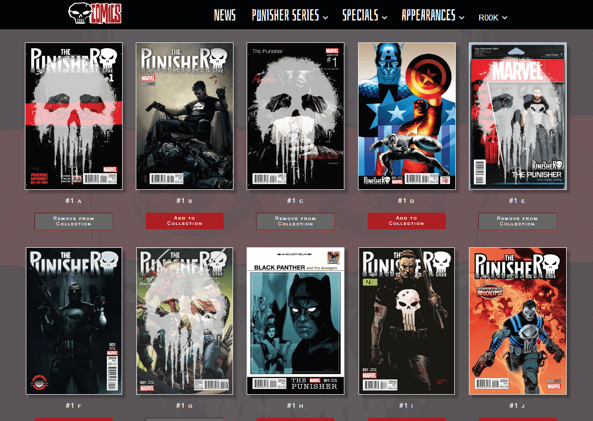 Punisher Collection App