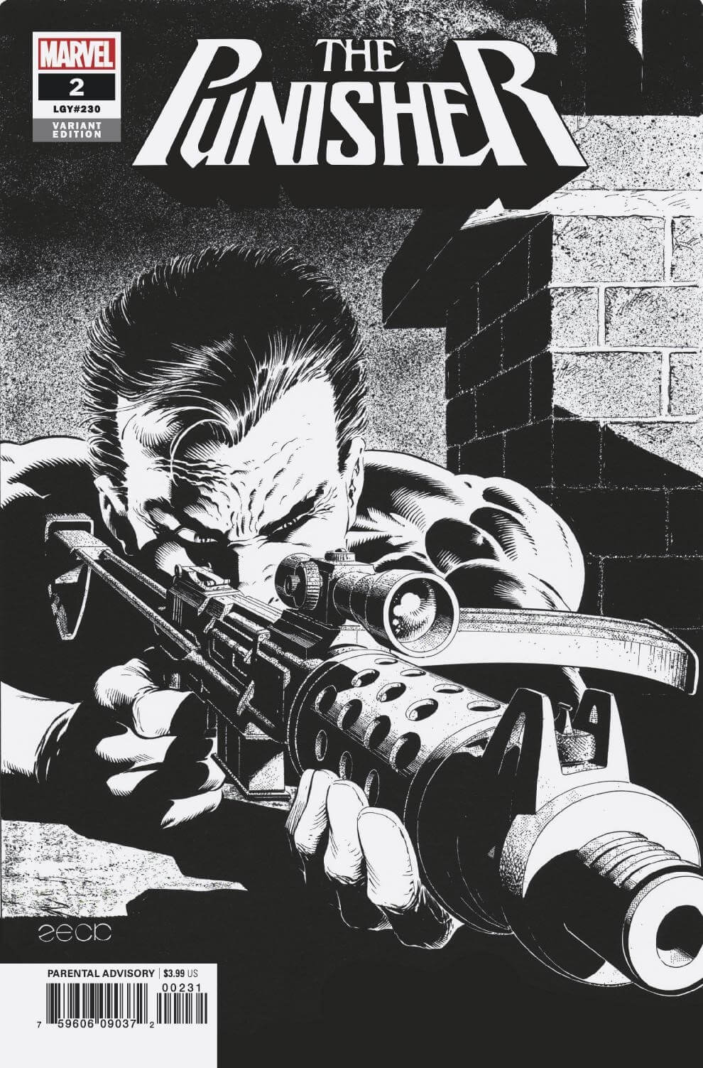 Punisher Vol 12 #2 Mike Zeck B&W