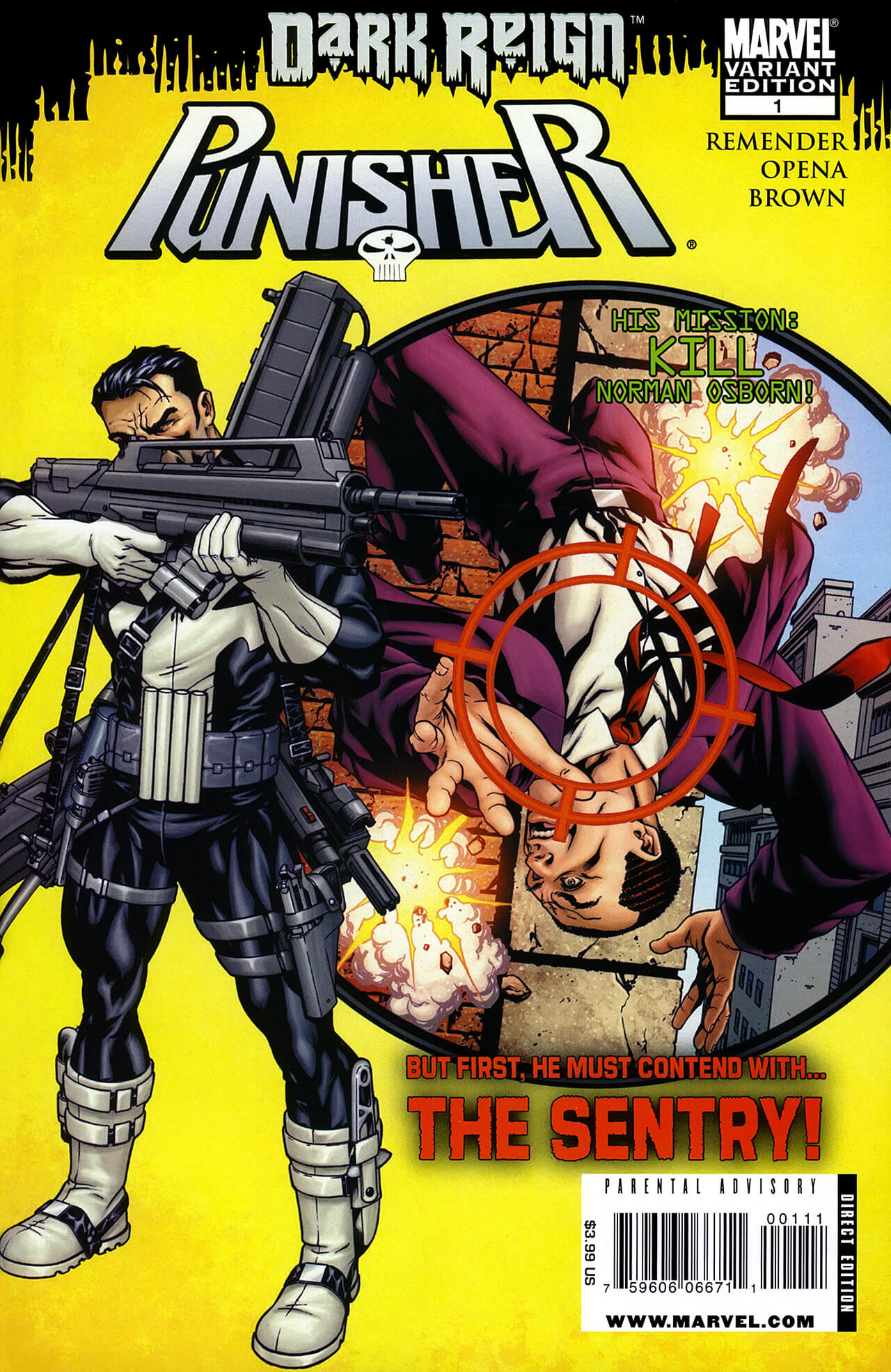 The Punisher Vol 7 #1 b