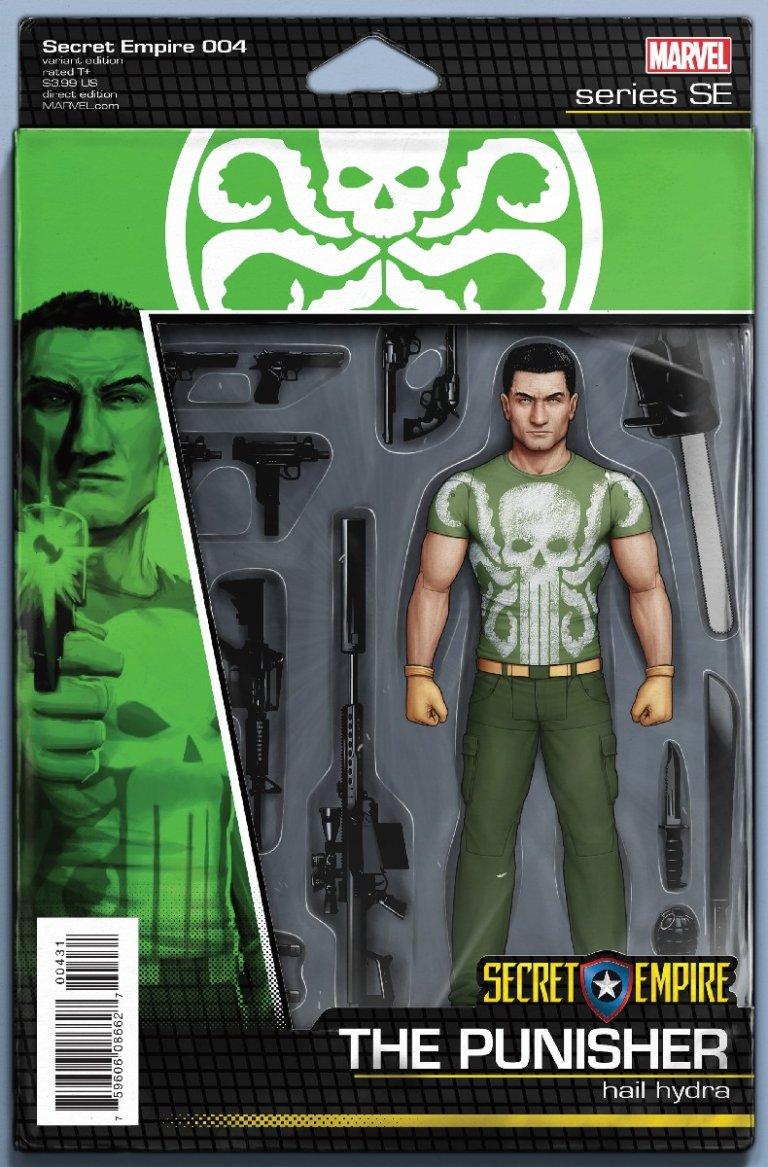 Secret Empire #4 Punisher Action Figure Variant