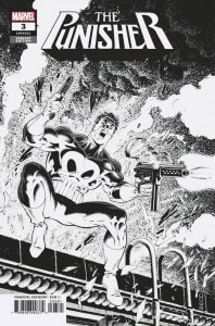 Punisher Vol 12 #3 Zeck B&W Variant