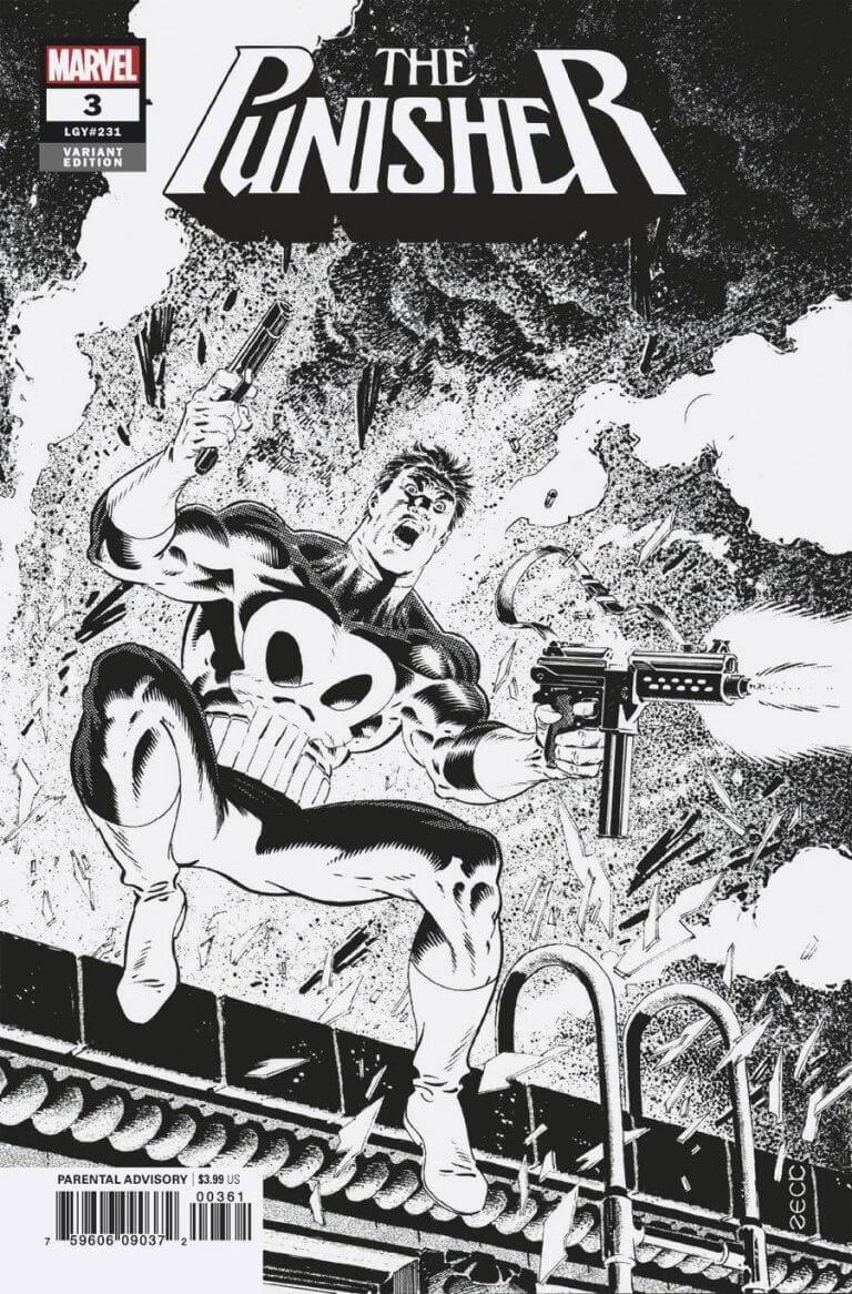 Punisher Vol 12 #3 Zeck B&W Variant