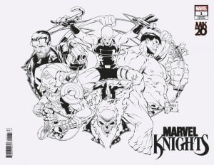 Marvel Knights 20th #1 e Joe Quesada B&W Full