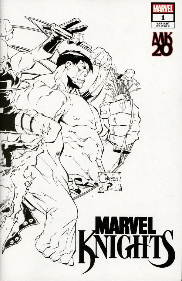 Marvel Knights 20th #1 e Joe Quesada B&W