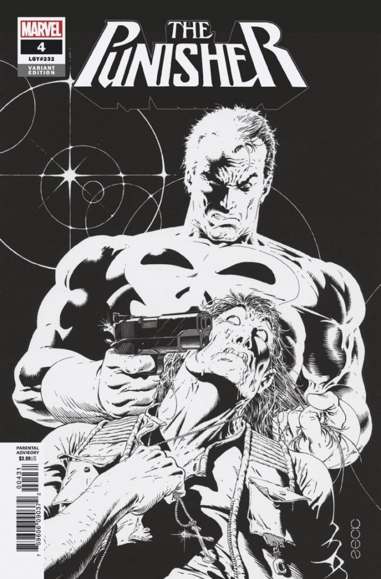 Punisher Vol 12 #4 Zeck B&W Variant