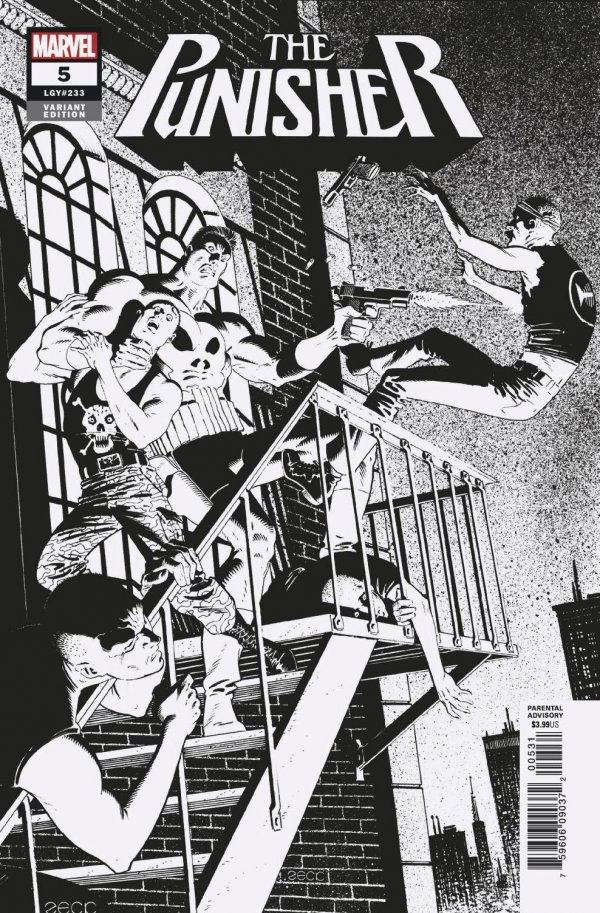 Punisher Vol 12 #5 Zeck B&W Variant