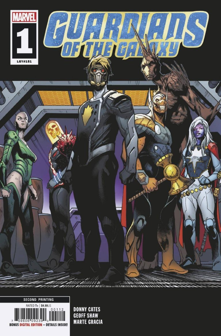 Guardians of the Galaxy Vol 5 #1 2nd Printing Variant