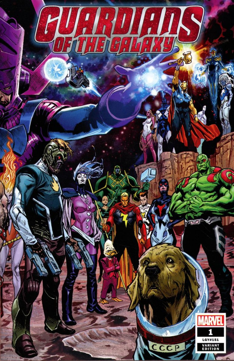 Guardians of the Galaxy Vol 5 #1 Shaw Wraparound Cover
