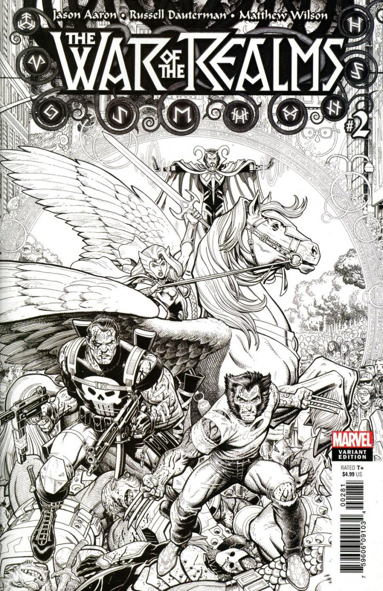 War of the Realms #2 Adams B&W Variant
