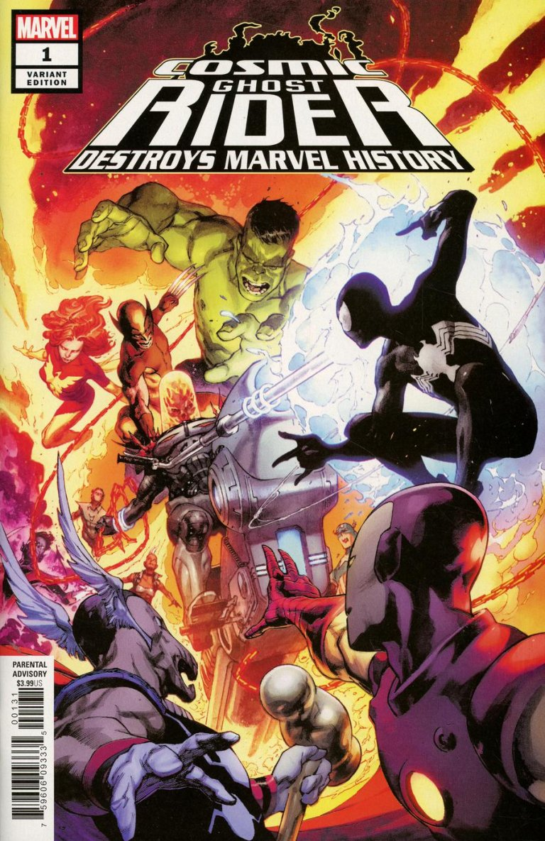 Cosmic Ghost Rider Destroys Marvel History #1 Opena variant