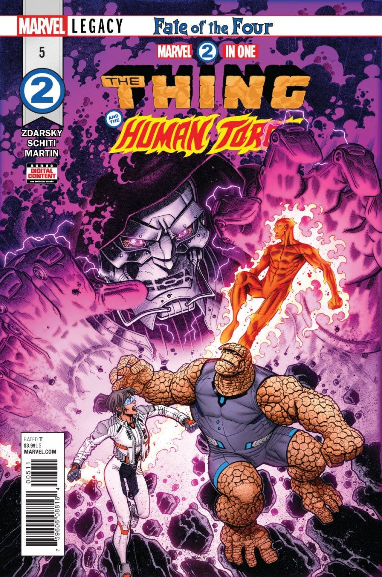 Marvel 2-in-One #5 cover